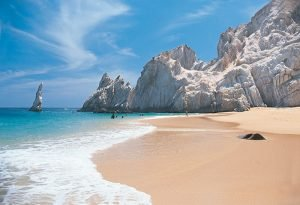 Playa del Amor or Lover's Beach in Cabo San Lucas
