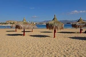Palapas on Playa Coral Negro, Cabo San Lucas, 2014