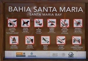 Santa Maria Beach and Bay (Playa Santa Maria y Bahia Santa Maria) along the Tourist Corridor of Cabo San Lucas, taken on March 18 2016.