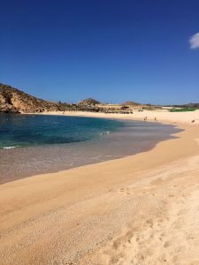 Santa Maria Beach and Bay (Playa Santa Maria), Tourist Corridor of Cabo San Lucas. March 18 2016.