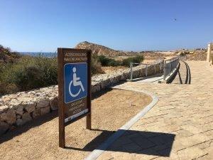 Santa Maria Beach and Bay (Playa Santa Maria), Tourist Corridor of Cabo San Lucas. March 18 2016.
