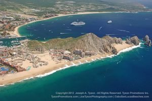 Aerial view of Solmar Beach at Lands End Cabo in 2012- 2381_r2